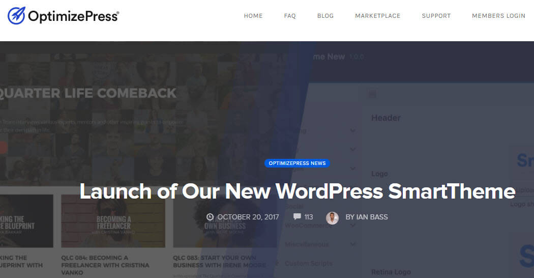 New OptimizePress Smart Theme Launched